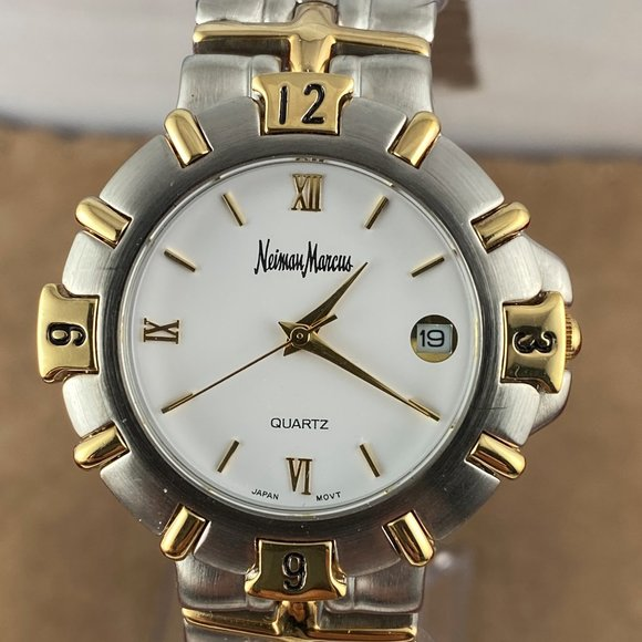 NEIMAN MARCUS Silver & Gold-Tone 8 In Watch